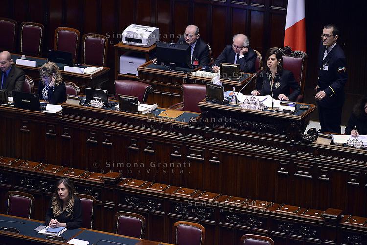Roma, 10 Marzo 2015<br /> La Camera dei Deputati vota si alle Riforme della Costituzione.<br /> Laura Boldrini e Maria Elena Boschi