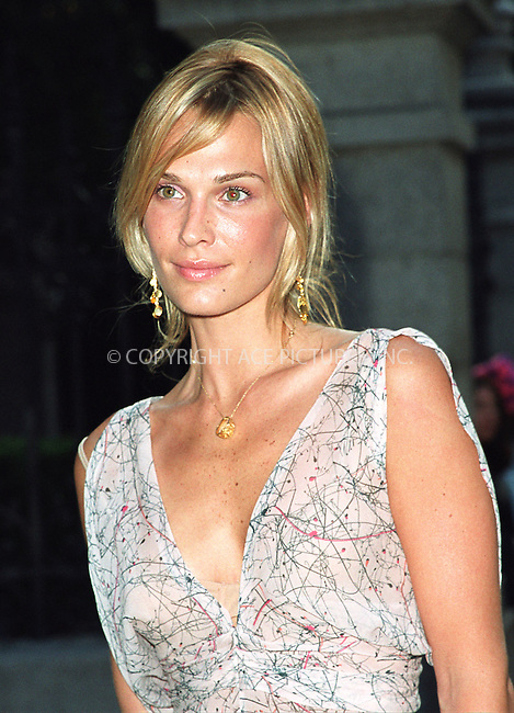 "Model Molly Sims attending the party ""Cocktails in the Garden"" at Cooper-Hewitt National Design Museum on Upper East Side in New York. July 24, 2002. Please byline: Alecsey Boldeskul/NY Photo Press.   ..*PAY-PER-USE*      ....NY Photo Press:  ..phone (646) 267-6913;   ..e-mail: info@nyphotopress.com"