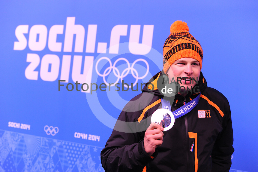 OLYMPICS: SOCHI: Medal Plaza, 19-02-2014, Men 10.000m, Sven Kramer (NED), ©photo Martin de Jong