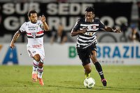 Orlando, FL - Saturday Jan. 21, 2017: Corinthians left back Moisés (6) is pressured by São Paulo forward W. Nem (21) during the first half of the Florida Cup Championship match between São Paulo and Corinthians at Bright House Networks Stadium.