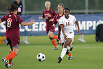 05 November 2008: Florida State's Tiffany McCarty (14). Virginia Tech and Florida State University played to a 0-0 tie after two overtimes at Koka Booth Stadium at WakeMed Soccer Park in Cary, NC in a women's ACC tournament quarterfinal game.  Virginia Tech advanced to the semifinal round in penalty kicks, 4-2.