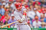 27 May 2013: Washington Nationals third baseman Ryan Zimmerman in action against the Baltimore Orioles at Nationals Park in Washington, DC. The Orioles defeated the Nationals 6-2, taking the Memorial Day, first game of their interleague series. Mandatory Credit: Ed Wolfstein Photo *** RAW (NEF) Image File Available ***