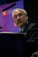 Joseph E. Stiglitz, Economist, Professor at Columbia University, recipient of the Nobel Memorial Prize in Economic Sciences in 2001 and the John Bates Clark Medal in 1979. He is also the former Senior Vice President and Chief Economist of the World Bank. <br />
