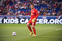 HARRISON, NJ - Saturday September 24, 2016: The New York Red Bulls take on the Montreal Impact at home at Red Bull Arena during the 2016 MLS regular season.