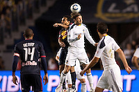 LA Galaxy midfielder David Beckham (23) battles with Dwayne De Rosario (11) of the New York Red Bulls. The LA Galaxy and Red Bulls of New York played to a 1-1 tie at Home Depot Center stadium in Carson, California on  May 7, 2011....
