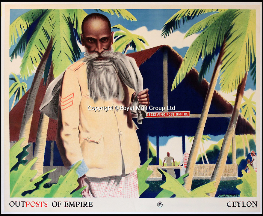 BNPS.co.uk (01202 558833)<br /> Pic: RoyalMailGroup/BNPS<br /> <br /> John Vickery (1906-1983) Outposts of Empire, Ceylon, GPO poster.<br /> <br /> A one-of-a-kind sale of rare vintage posters could net the Post Office &pound;40,000 to put towards the building of a new museum dedicated to the service.<br /> <br /> In a bid to raise funds for the new British Postal Museum, curators sifted through the Royal Mail archives to find duplicates of advertising posters dating back to the 1930s that they could sell at auction.<br /> <br /> The resulting collection of more than 150 original posters are now going under the hammer at Onslows Auctions in Blandford, Dorset, in a sale the likes of which has never been held before.<br /> <br /> The proceeds will go towards the building of the new museum in Camden, London, which will feature part of the old Post Office Underground Railway - the Mail Rail - as a heritage attraction.