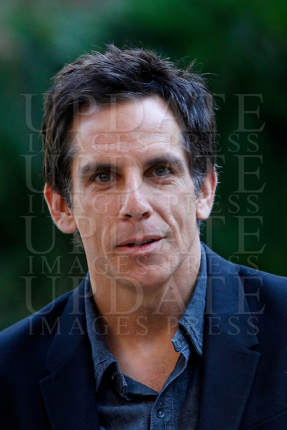 L'attore, regista e produttore statunitense Ben Stiller posa durante un photocall per la presentazione del film &quot;I sogni segreti di Walter Mitty&quot; a Roma, 13 December 2013.<br />