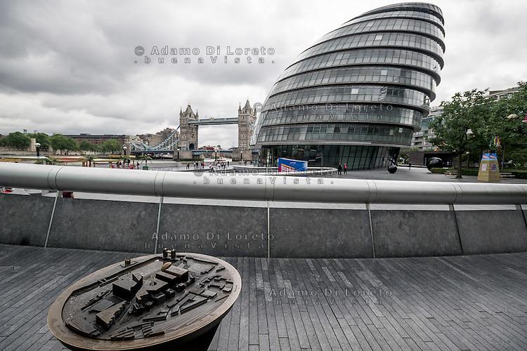 The view of City Hall in London City before the Brexit Referendum, on june, 2016. Photo: Adamo Di Loreto/buenaVista*photo