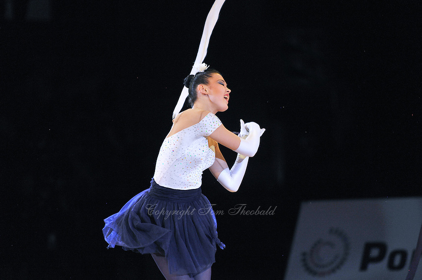 Alina Maksymenko of Ukraine performs gala exhibition at 2011 World Cup at Portimao, Portugal on May 01, 2011.