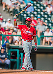 11 March 2016: Philadelphia Phillies outfielder Darnell Sweeney in action during a Spring Training pre-season game against the Atlanta Braves at Champion Stadium in the ESPN Wide World of Sports Complex in Kissimmee, Florida. The Phillies defeated the Braves 9-2 in Grapefruit League play. Mandatory Credit: Ed Wolfstein Photo *** RAW (NEF) Image File Available ***