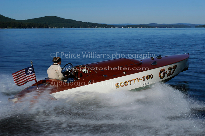 """G-27 """"Scotty-Two"""" (2011 reproduction of 1928/29 Hacker design by Mark Mason,New England Boat for owner J. W. (Bill) Marriott)"""