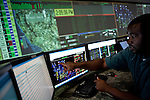 Rod Robinson trains in a simulated control room at the California Independent System Operator in Folsom, Calif., October 19, 2011.