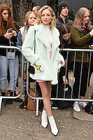 Clara Paget arrives for the Topshop Unique AW17 show as part of London Fashion Week AW17 at Tate Modern, London, UK. <br /> 19 February  2017<br /> Picture: Steve Vas/Featureflash/SilverHub 0208 004 5359 sales@silverhubmedia.com