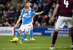 Hearts v St Johnstone&hellip;05.11.16  Tynecastle   SPFL<br />David Wotherspoon&rsquo;s free kick hits the post and the re-bound is put in the net by Joe Shaughnessy only to see it rulked off-side<br />Picture by Graeme Hart.<br />Copyright Perthshire Picture Agency<br />Tel: 01738 623350  Mobile: 07990 594431
