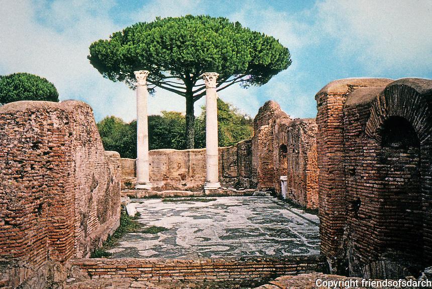 Italy: Ostia--7 Baths of Neptune. Begun A.D. 133.