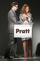 Diane von Furstenberg presents the 2011 Pratt Institute Fashion Icon Award to Hamish Bowels, at the Pratt 2011 fashion show, April 27 2011.