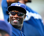 21 August 2009: Milwaukee Brewers' outfielder Mike Cameron stretches out prior to a game against the Washington Nationals, at Nationals Park in Washington, DC. The Brewers defeated the Nationals 7-3 in the first game of their four-game series. Mandatory Credit: Ed Wolfstein Photo