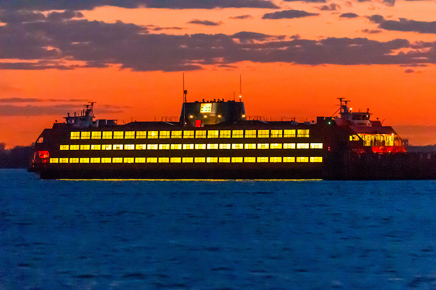 Staten Island Ferry, New York, New York USA.