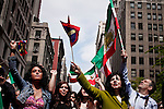People attend the Persian Day parade in New York, United States. 15/03/2012.  Photo by Kena Betancur  / VIEWpress.