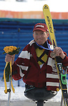 new westminster b.c. native daniel wesley displays his  bronze medal earned after the paralympic's dowhill race held at the snow bassin venue on saturday the 9th