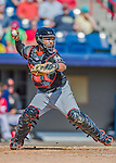 7 March 2016: Miami Marlins catcher Tomas Telis in action during a Spring Training pre-season game against the Washington Nationals at Space Coast Stadium in Viera, Florida. The Nationals defeated the Marlins 7-4 in Grapefruit League play. Mandatory Credit: Ed Wolfstein Photo *** RAW (NEF) Image File Available ***