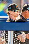 1 March 2017: Miami Marlins Manager Don Mattingly watches play from the dugout during Spring Training action against the Houston Astros at the Ballpark of the Palm Beaches in West Palm Beach, Florida. The Marlins defeated the Astros 9-5 in Grapefruit League play. Mandatory Credit: Ed Wolfstein Photo *** RAW (NEF) Image File Available ***