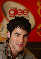 Darren Criss, a cast member of the television show, &quot;Glee&quot;, cheers for audition hopefuls before entering the Norris Conference Center in downtown Fort Worth Sunday January 9, 2011. Criss was promoting &quot;The Glee Project.&quot;