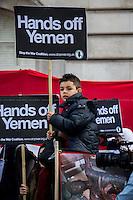 """11.04.2015 - """"Hands Off Yemen"""" - Demo at Saudi Arabia Embassy"""