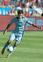 August 18, 2012: Sporting KC midfielder/forward Graham Zusi #8 in action during an MLS game between Toronto FC and Sporting Kansas City at BMO Field in Toronto, Ontario Canada..Sporting Kansas City won 1-0.