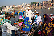 Pilgrims visit the ancient city of Varanasi in Uttar Pradesh, India. Photograph: Sanjit Das/Panos