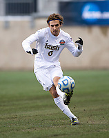 Max Lachowecki (6) of Notre Dame passes the ball forward during the NCAA Men's College Cup final at PPL Park in Chester, PA.  Notre Dame defeated Maryland, 2-1.