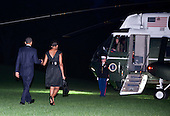 United States President Barack Obama and First Lady Michelle Obama depart for New York from the South Lawn of the White House in Washington, DC, on Sunday, September 11, 2011..Credit: Joshua Roberts / Pool via CNP