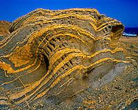 Desert Rock Forms, Sultanate of Oman    Intrusions along ocean shore   Arabian Pennisula