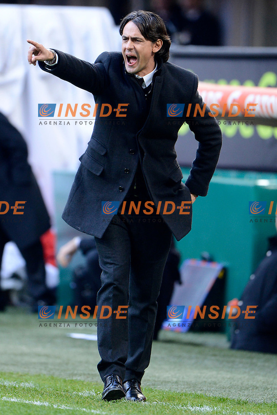 Filippo Inzaghi Milan<br /> Milano 18-01-2015 Stadio Giuseppe Meazza - Football Calcio Serie A Milan - Atalanta. Foto Giuseppe Celeste / Insidefoto