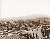 View of Beirut, end of the nineteenth century. See the mountains of Lebanon and the city with its coastline.