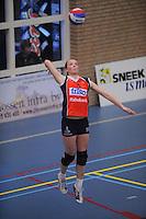 VOLLEYBAL: SNEEK: Sneker Sporthal, DELA League Play-Off Finale, 4e wedstrijd, 01-04-2012, VC Sneek DS1 - Sliedrecht Sport DS1, eindstand 1-3, Roos van Wijnen (#11   VC Sneek), ©foto Martin de Jong