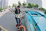 Man Distributing Fish To Stores