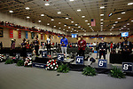 NAPERVILLE, IL - MARCH 11:  Competitors in the women's triple jump stand at the podium at the Division III Men's and Women's Indoor Track and Field Championship held at the Res/Rec Center on the North Central College campus on March 11, 2017 in Naperville, Illinois. (Photo by Steve Woltmann/NCAA Photos via Getty Images)