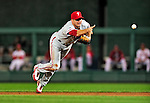 29 September 2010: Philadelphia Phillies' infielder Mike Sweeney in action against the Washington Nationals at Nationals Park in Washington, DC. The Phillies defeated the Nationals 7-1 to take the rubber game of their 3-game series. Mandatory Credit: Ed Wolfstein Photo
