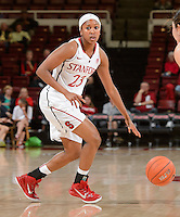 Stanford, California - Sunday, November 2, 2014: Stanford Women's Basketball defeated Vanguard, 105-50  at Maples Pavilion.