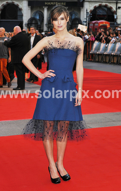 **ALL ROUND PICTURES FROM SOLARPIX.COM**.**WORLDWIDE SYNDICATION RIGHTS**.The world premiere of her latest movie The Duchess in London's Leicester Square this evening...This Pic:Keira Knightley..JOB REF: 7191      SSD     DATE:03.09.08.**MUST CREDIT SOLARPIX.COM OR DOUBLE FEE WILL BE CHARGED* *UNDER NO CIRCUMSTANCES IS THIS IMAGE TO BE REPRODUCED FOR ANY ONLINE EDITION WITHOUT PRIOR PERMISSION*