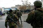 Moscow, Russia.October 26, 2002..The day Russian troops stormed the theater in Moscow where Chechen hostage takers held around 850 Russians and foreign nationals for 3 days demanding the Russian troops pull out of Chechyna...After a siege of two and a half days, Russian OSNAZ raided the building after pumping a mysterious chemical agent into the building's ventilation system. All of the terrorists were killed by Russian forces, along with at least 129 of the hostages. There were conceivably more than 200 civilian deaths.