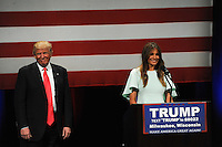 Donald Trump on the Campaign Trail in Illinois + Wisconsin (USA)
