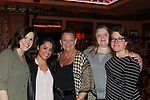 Guiding Light's Kim Zimmer poses wiithTeran, Paola, Rachel, Sundi at the Barn Theatre - A Celebration at Feinsteins/54 Below, New York City, New York on April 28. 2017. Barn Theatre is located in Augusta, Michigan.  (Photo by Sue Coflin/Max Photos)