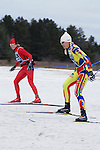 Two women ski the 2007 American Birkebeiner course, shortened by a lack of snow.