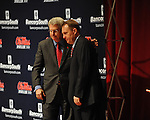 Chancellor Dan Jones (left) and new Ole Miss head football coach Hugh Freeze attend a press conference at the Ford Center on campus in Oxford, Miss. on Monday, December 5, 2011.