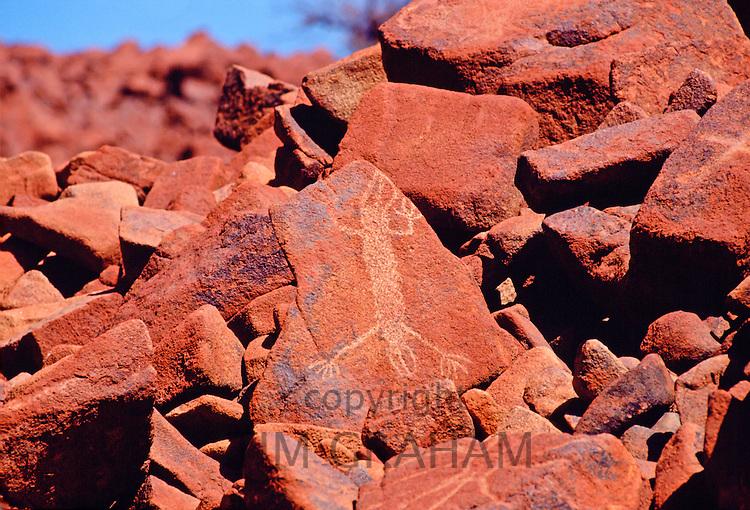 Aboriginal rock painting, Deep Gorge, Australia