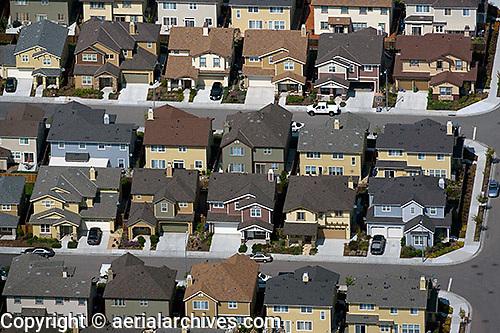 aerial photograph residential development Petaluma, Sonoma county, California