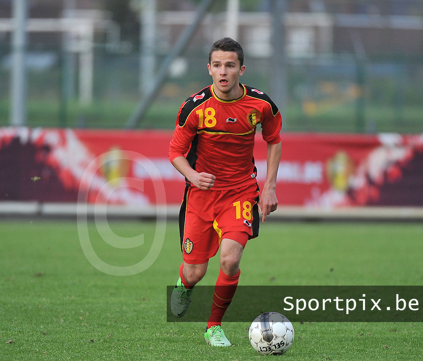 Belgium U19 - England U19 : Siebe Schrijvers (18).foto DAVID CATRY / Nikonpro.be
