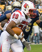 November 08, 2008: Louisville running back Victor Anderson (20). The Pitt Panthers defeated the Louisville Cardinals 41-7 on November 08, 2008 at Heinz Field, Pittsburgh, Pennsylvania.